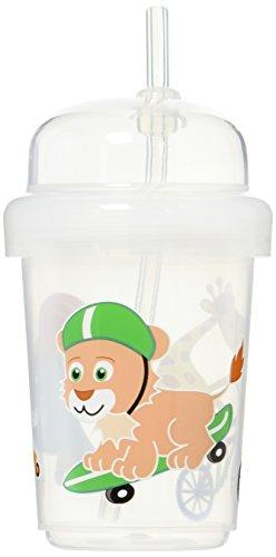 31lVjirgasL - Nuspin Kids 8 Oz Zoomi Straw Sippy Cup, Safari Animals Style
