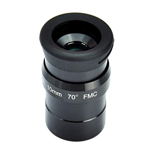 1.25inch 10mm Super Wide Angle 70 Degree Eyepieces for Telescope with Five Elements Fully-Coated high-Index Glass