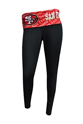 San Francisco 49ers Womens Black Cameo Leggings Large