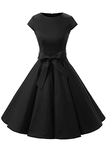 Buy black 1950s prom dress - 1
