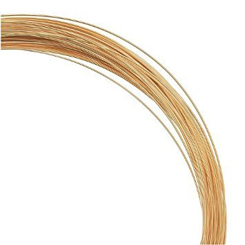 1 Ounce (52 Ft) Gold Filled Wire 24 Gauge -Round-Half Hard