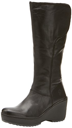 FLY London Women's Mant Boot - Black Touch - 9 B(M) US