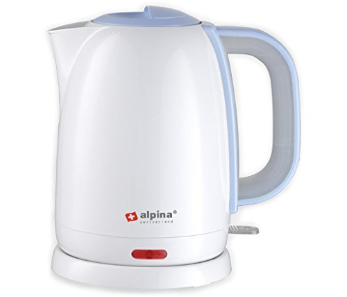 Alpina SF-806 Automatic 220V Cordless Electric Hot Water Kettle, 1.7 L, White