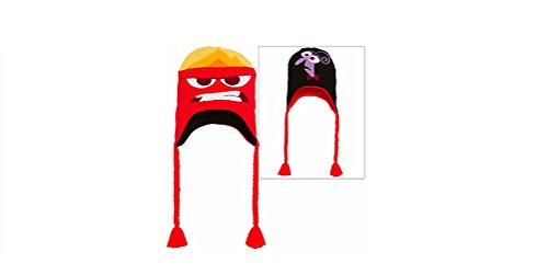 Anger & Fear Reversible Peruvian Hat - Inside (Inside Out Fear Costume)