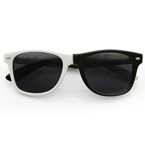 zeroUV - Half and Half Color Horn Rimmed Sunglasses Party Rock LMFAO Bud Basketball Commercial - Lmfao Glasses