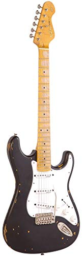 Vintage Guitars Icon V6 Electric Guitar - Black