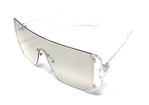 58d725afb6 Malibu Rimless Full Shield Mono Lens Sunglasses (Transparent Frame
