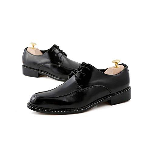 Black Zapatos Hombres Juventud LYZGF Negocios Cordones Moda Puntiagudo Casual Y Cuero Otoño Primavera De Oqadvaw4