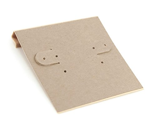 JewelrySupply Hanging Earring Card - Kraft Paper 2x2 (Package of 100) EC104
