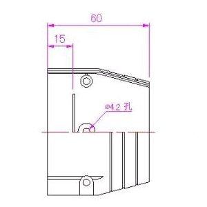10個セット 配管化粧カバー 端末カバー 70タイプ グレー KTC-70-G_set