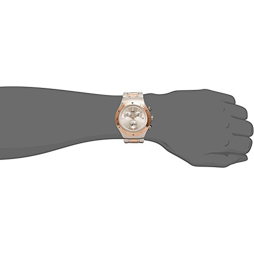 Swatch Men's So Biggar Quartz Watch with Stainless-Steel Strap, Two Tone, 23 (Model: YOS452G)