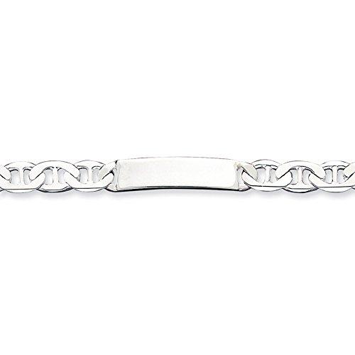 """Argent 925/1000 8.5 """"ancrage Engraveable ID Bracelet-Fermoirs-Mousquetons JewelryWeb"""