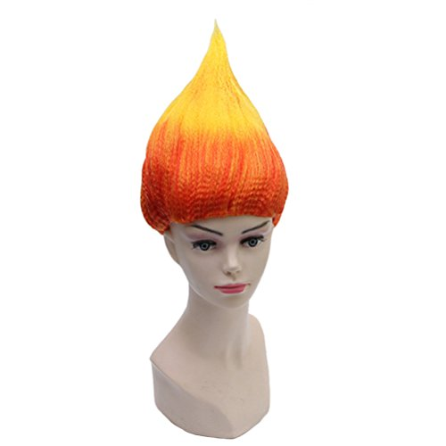 Ice Miser Costumes - BERON Flame Shape Hair Cosplay Costume