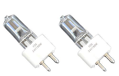 2pcs 24V 150W FDS DZE Replacement Bulb RSE-52 for Realist Vantage I, II Microfilm, Vantage XI XII X1 X11 Slide/Filmstrip Vantage HMV 1 II X-Ray 3320, 3330 Swinger 3332, 3351 3352 Vangard Lamp