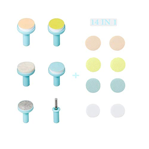 Nail Trimmer Replacement Heads - Fansidi Electric Baby Nail File Replacement Pads- Electric Baby Nail Trimmer Clipper Sandpaper Pads (Blue)