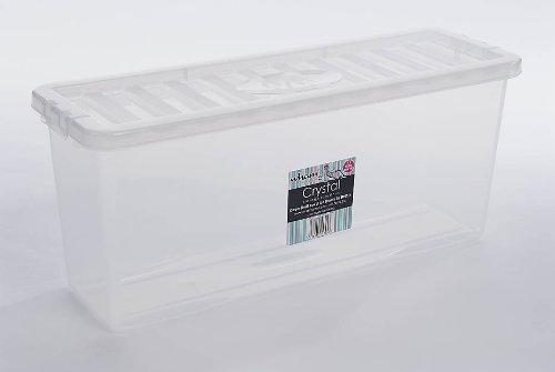 5x 36 DVD CLEAR PLASTIC STACKER BOX Large Video Game Storage Box With Lids Amazon.co.uk Kitchen u0026 Home & 5x 36 DVD CLEAR PLASTIC STACKER BOX Large Video Game Storage Box ...