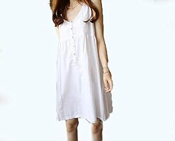 DESY Vestido de maternidad nuevo del algodón y del lino de la manera, vestido fresco