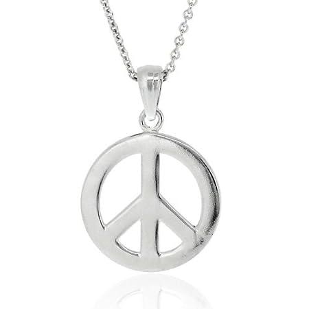 Elli Women 925 Sterling Silver Peace Sign Necklace of 45cm 01503473 GkEM3hSv