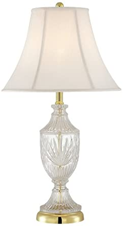 Cut Glass Urn With Brass Accents Table Lamp - Crystal Lamp ...:Cut Glass Urn With Brass Accents Table Lamp,Lighting