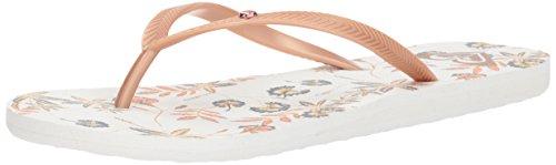 Roxy Women's Bermuda Sandels Flip-Flop, Rose Gold, 9 M US - Gold Bermuda