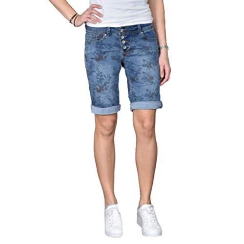72f83434d15a1f best Buena Vista Jeans Malibu-Short Stretch XL Light Denim Flower ...
