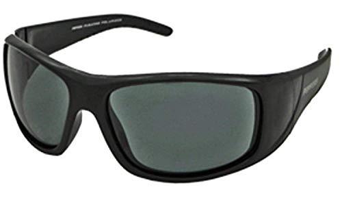 Black Smoke Flash Mirror Lens - Peppers Sunglasses - Dry Dock / Frame: Shiny Black Lens: Polarized Smoke with Flash Mirror