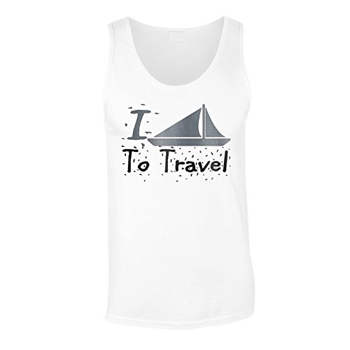Neue I Love Travel Boat Ship Herren Tank top l748mt