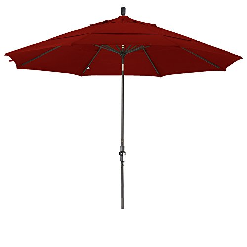 Eclipse Collection 11' Aluminum Market Umbrella Collar Tilt DV Bronze/Sunbrella/Terracotta