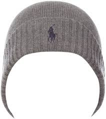 e8aa13e8331815 Image Unavailable. Image not available for. Colour: Polo Ralph Lauren  Ribbed Beanie Hat in Gray for Men (charcoal).