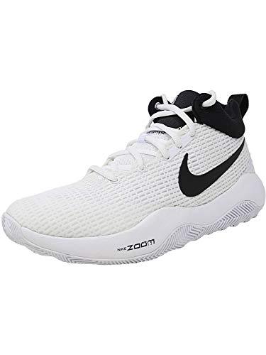 Nike Men's Zoom Rev TB Basketball Shoes Game White/Black (922048-100) Size 7.5