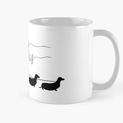 Funny Sophisticated Design Great Gifts White-situen. Dachshund Christmas Classic Mug 11 Oz Coffee