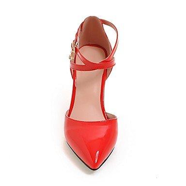 LvYuan Mujer-Tacón Stiletto-Otro-Sandalias-Oficina y Trabajo Vestido Fiesta y Noche-PU-Negro Rosa Rojo Blanco Beige Red