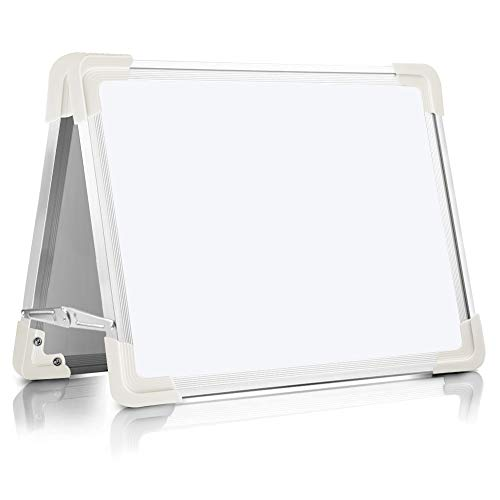 Little Red Tool Box - Magnetic Dry Erase Board for Kids, OUSL 16X12'' Small Desktop Foldable Reminder Board Magnet White Board Double-Sided Portable Whiteboard Easel for Children