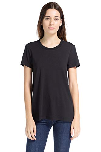 Fishers Finery Ecofabric Organic Cotton Blend Women's Tee Shirt (Black, M)