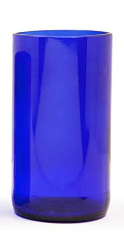 Skyy Vodka Tall Glass Tumblers Custom Liquor Bottle Bar Glasses (SET Of 4)