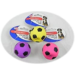 Latex Soccer Ball Dog Toy 2 inch 12 pack