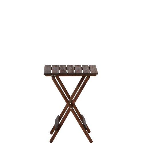 BUTLERS LODGE Mini mesa plegable 38 x 29,5 x 51 cm (marrón)