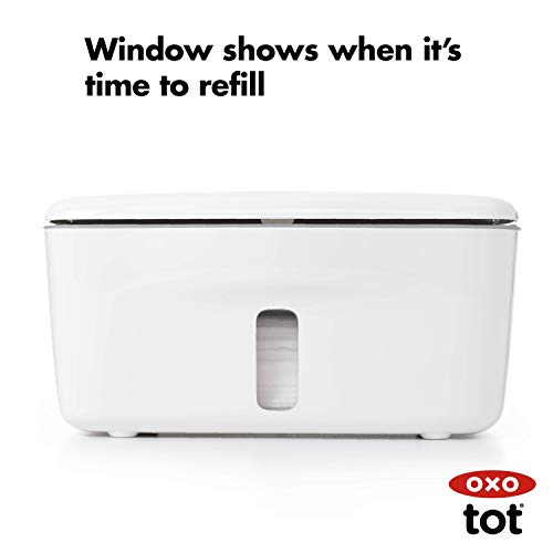 31lW42r8dsL - OXO Tot Perfect Pull Wipes Dispenser, Gray