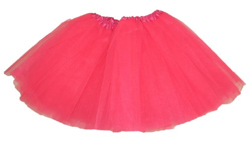 Hairbows Unlimited Neon Hot Pink Dance or Ballet Tutu for Girls / Toddlers / Babies - Skirt! (Dance Costumes For Kids Recitals)