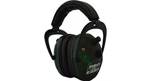 Pro-Ears P300 Predator Gold Electronic Earmuffs, NRR 26 - Zombie by Pro Ears