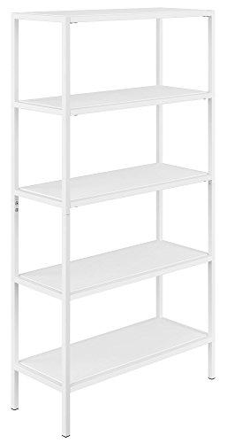 Novogratz 9556196COM Avondale Bookcase, 5 Drawer Dresser, White by Novogratz