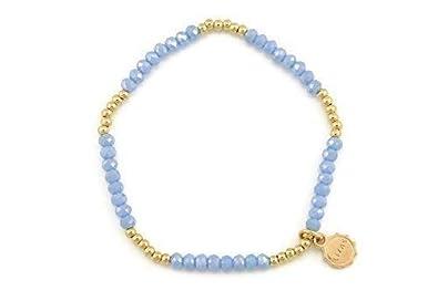 Bleu Bracelet Rose Élastique Lizas 10002941 Doré Clair Et Monobrin Y6v7gmIfby