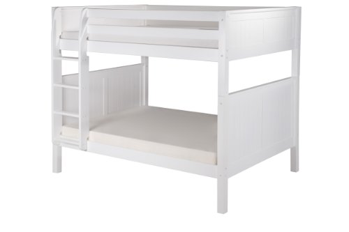 Camaflexi Panel Style Solid Wood Bunk Bed, Full-Over Full, S