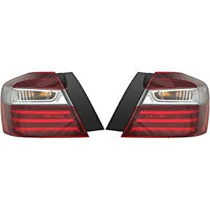 fits 2016 2017 honda accord pair rear tail lights driver and passenger side sedan. Black Bedroom Furniture Sets. Home Design Ideas
