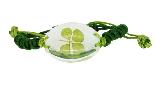 (Celtic Real Four Leaf Clover Unisex Bracelet with Gift Box & Guarantee )