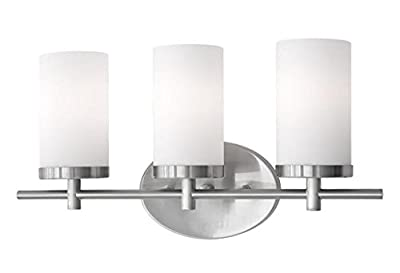 Radionic Hi Tech Yellin 3 Light Brushed Nickel Bath Light