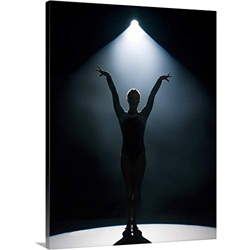 - GREATBIGCANVAS Gallery-Wrapped Canvas Entitled Female Gymnast Performing in Spotlight by 30