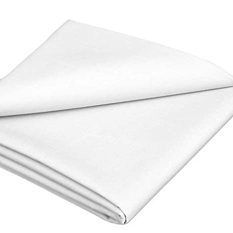 100% Cotton Bed Sheet White Flat (King) Johnson Home