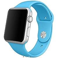 Pulseira Sport Tamanho Masculino Azul Compativel com apple watch de 38mm e 40mm