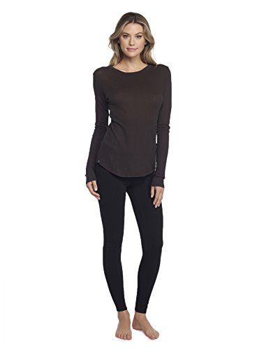 (Barefoot Dreams Malibu Collection Women's Long Sleeve Loose Jersey Crew, Carbon - Medium)